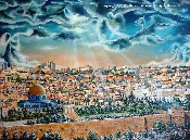 Pray for the Peace of Jerusalem - Numbered/Paper - Unframed