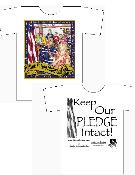 2X and 3X Large Adult --Keep Our Pledge Intact T-Shirts